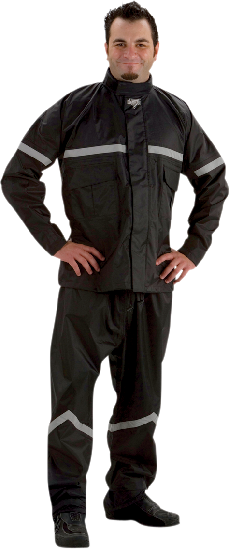 Nelson Rigg SR6000 Stormrider 2 Piece Black Unisex Motorcycle Rididng Rainsuit