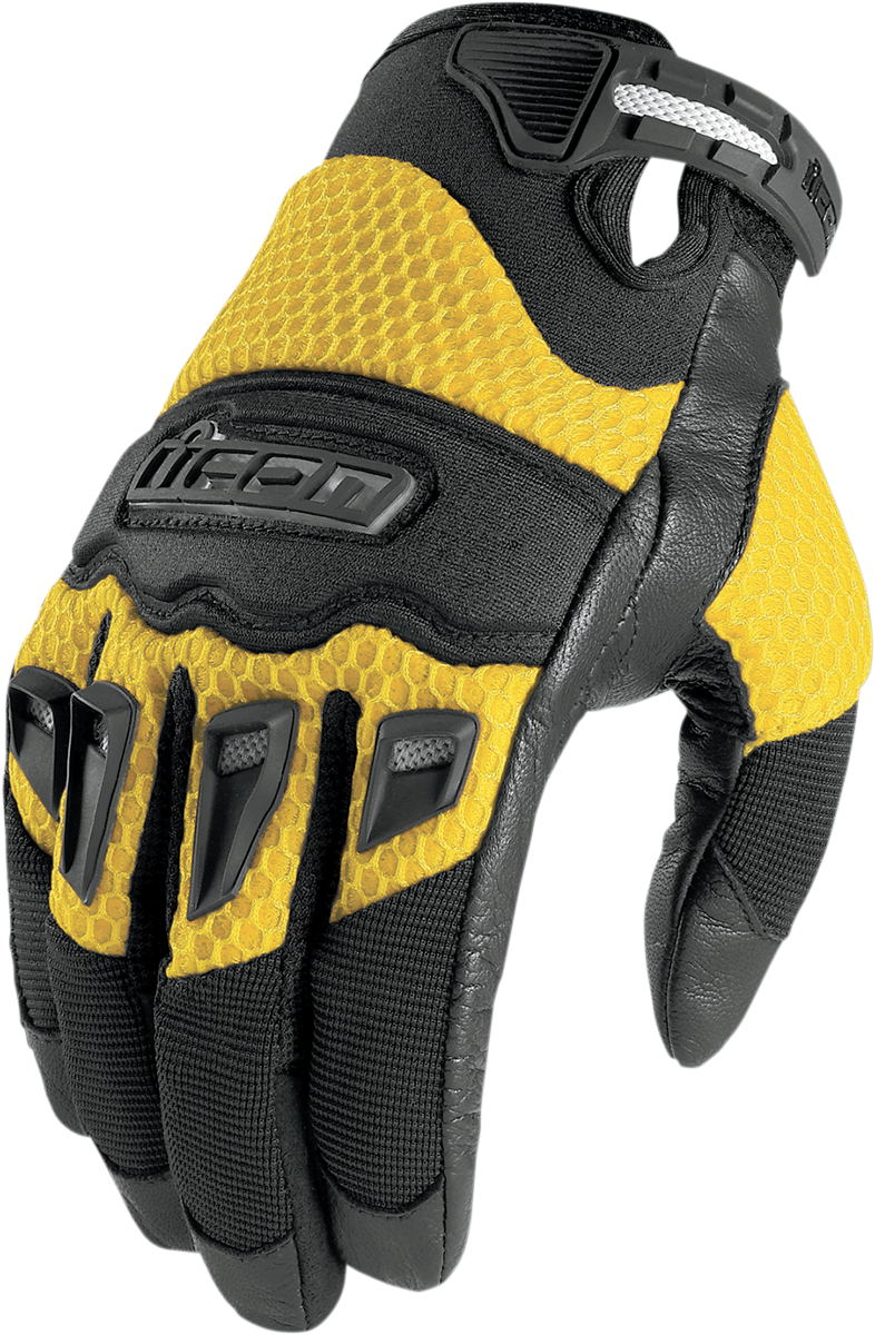 Mens icon twenty-niner 29ER yellow biker motorcycle gloves Suzuki