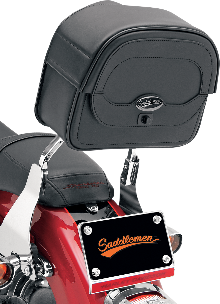 Saddlemen Cruis'n motorcycle Synthetic Leather sissy bar luggage bag for Harley