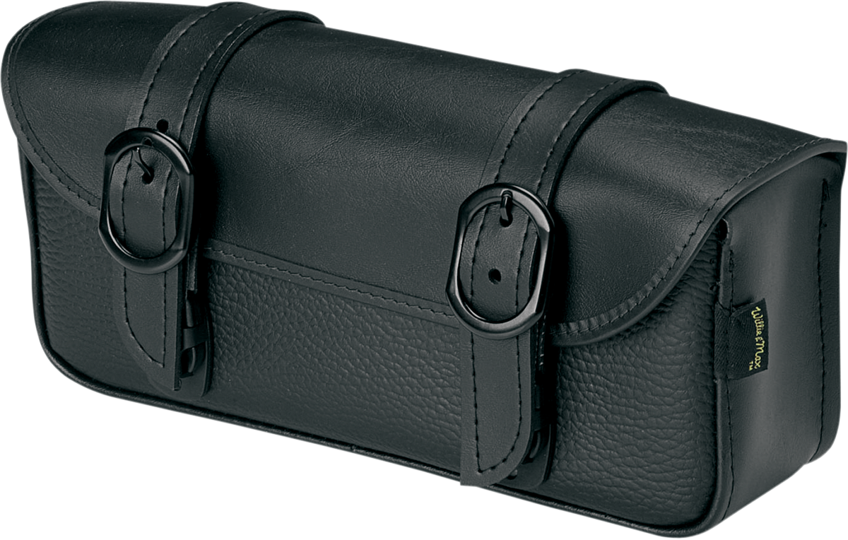 Willie & Max Luggage Black Jack Leather Universal Motorcycle Tool Bag Harley