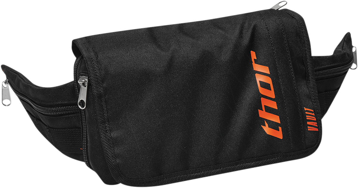 Thor Black Orange Textile Motorcycle MX Off Road Racing Tech Vault Tool Bag