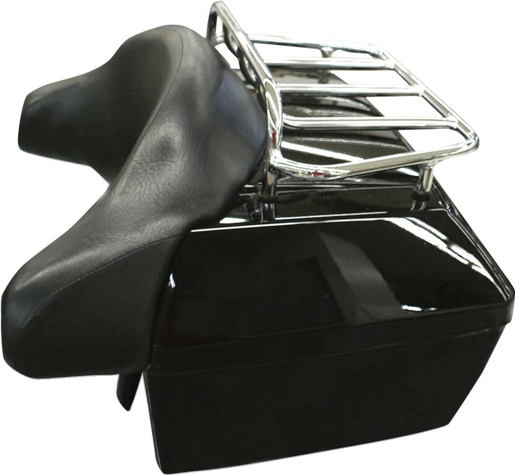 Rivco Black Plastic Cruiser Universal Rear Trunk Honda Kawasaki Suzuki Yamaha