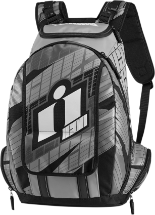 Icon Gray Old Skool Textile Motorcycle Riding Street Backpack Harley Davidson