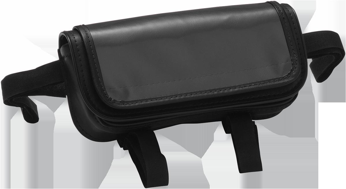 Hopnel Black Leather Universal Motorcycle Handlebar Pouch Bag Harley Davidson