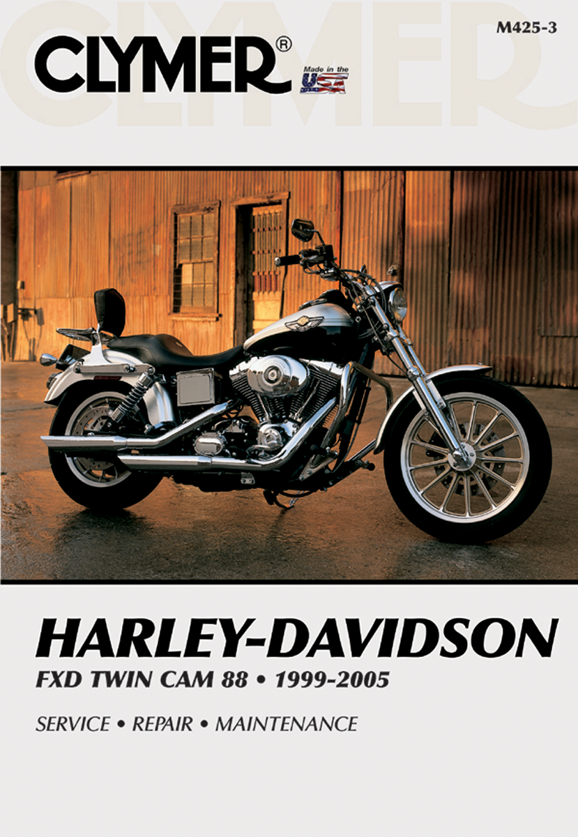 Clymer Repair Manual Harley Davidson 99-05 Fxd Fxdwg Tc 88 Dyna Superglide