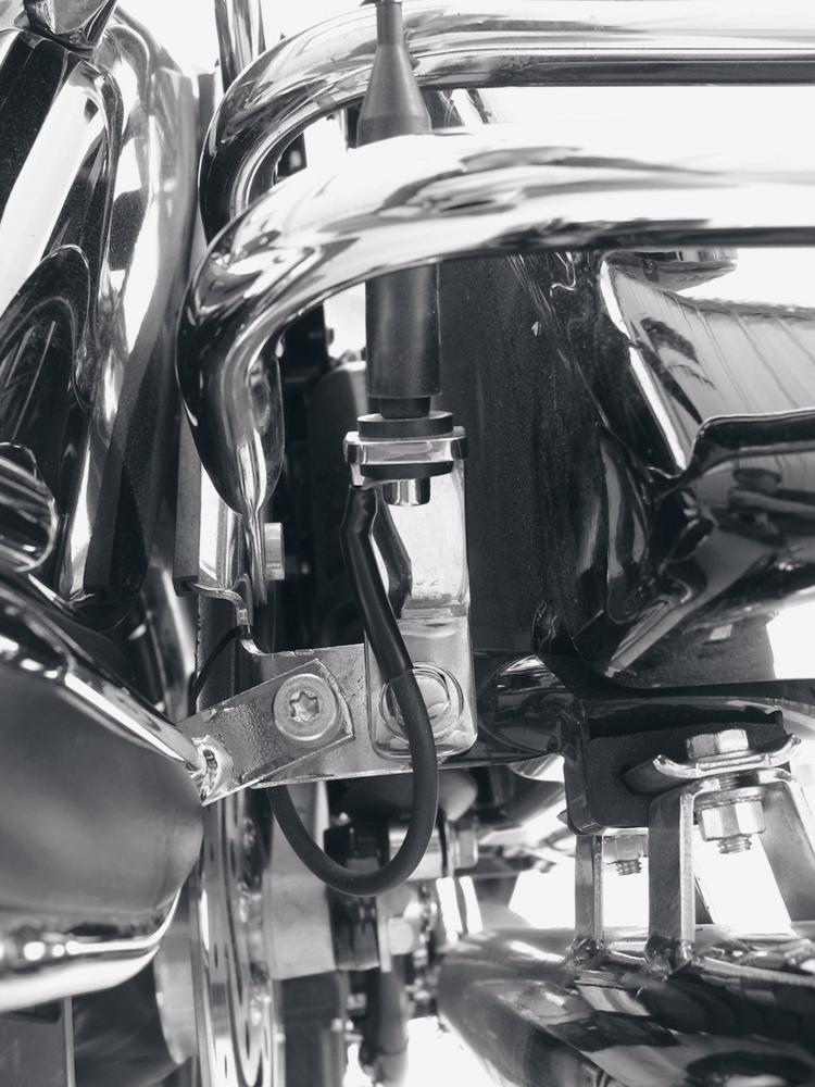 Pingel CB Low Mount Antenna Relocation Kit 99-08 Harley Touring Bagger FLHTCU