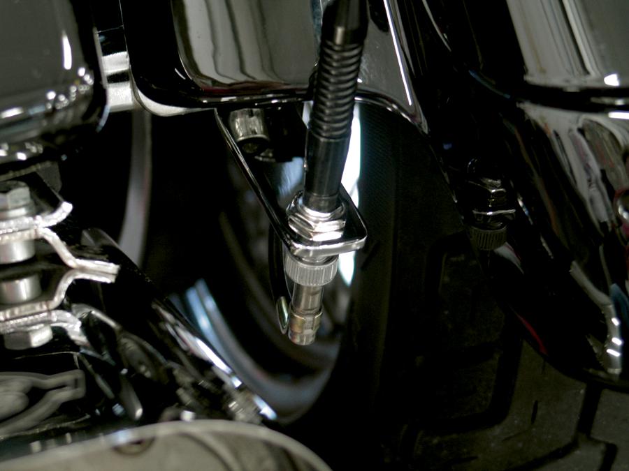 Pingel Low Mount Antenna Relocation Kit 85-13 Harley Davidson Touring FLHX FLHT
