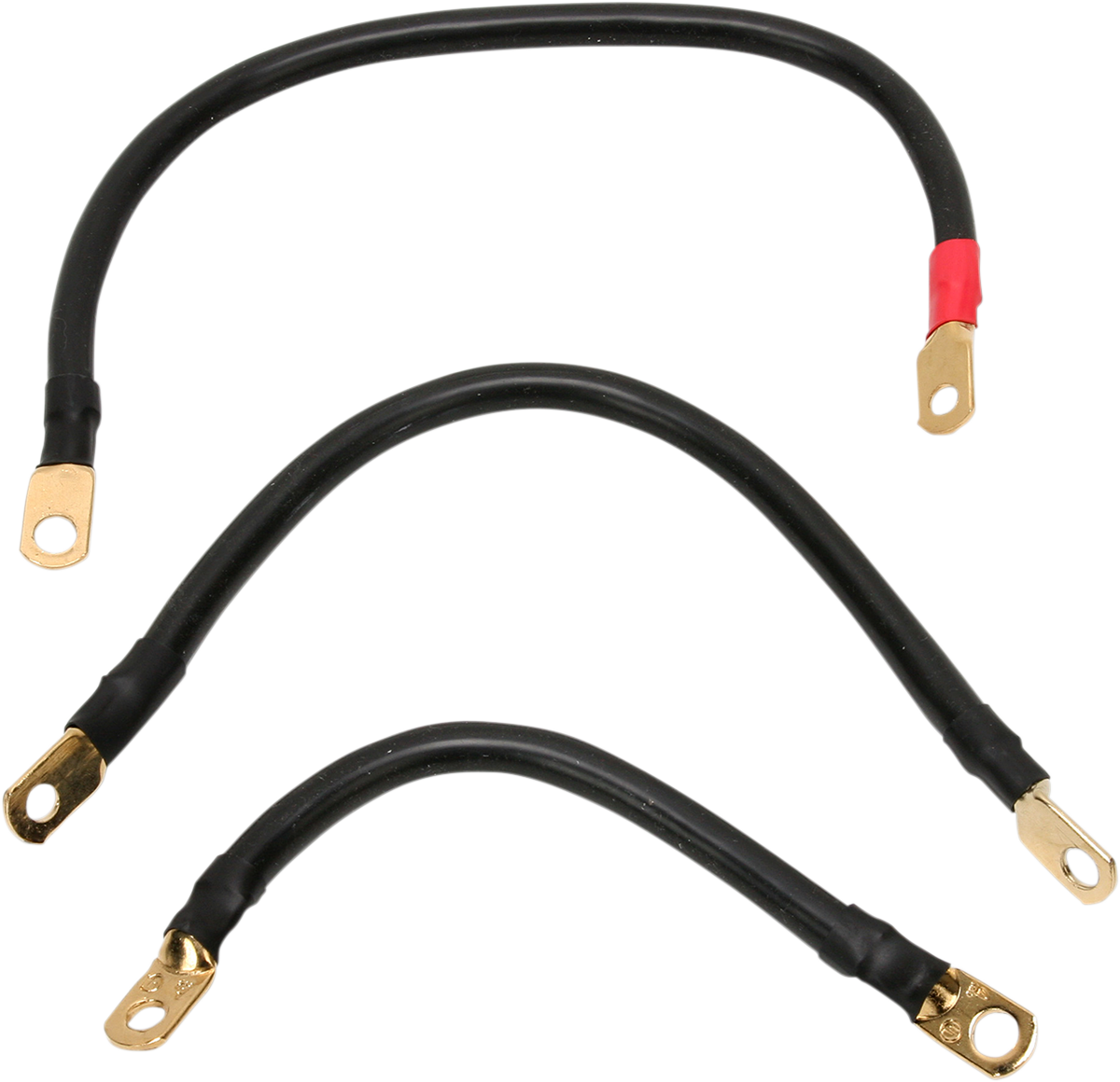 """Terry Components Black 10"""" 15"""" Battery Cable Kit 91-05 Harley Davidson DYNA FXDL"""
