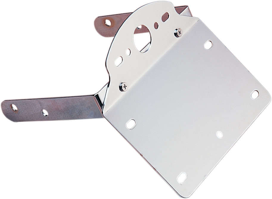 Drag Specialties Chrome License Plate Taillight Bracket 84-99 Harley Softail