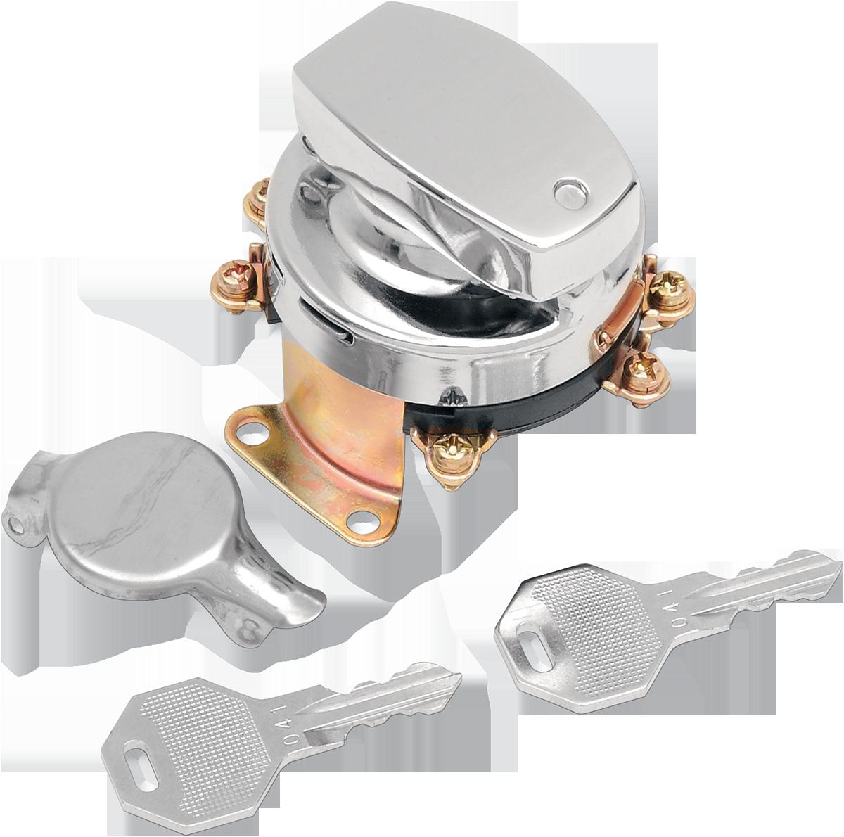 Drag Specialties Chrome Ignition Fatbob Switch 73