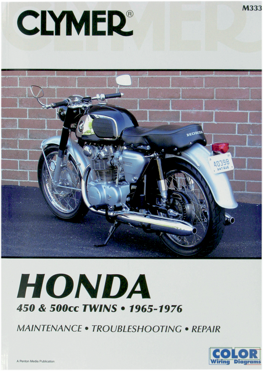 Clymers Motorcycles Repair Manual Honda 68-76 CB 450-500cc Cb450k Super Short