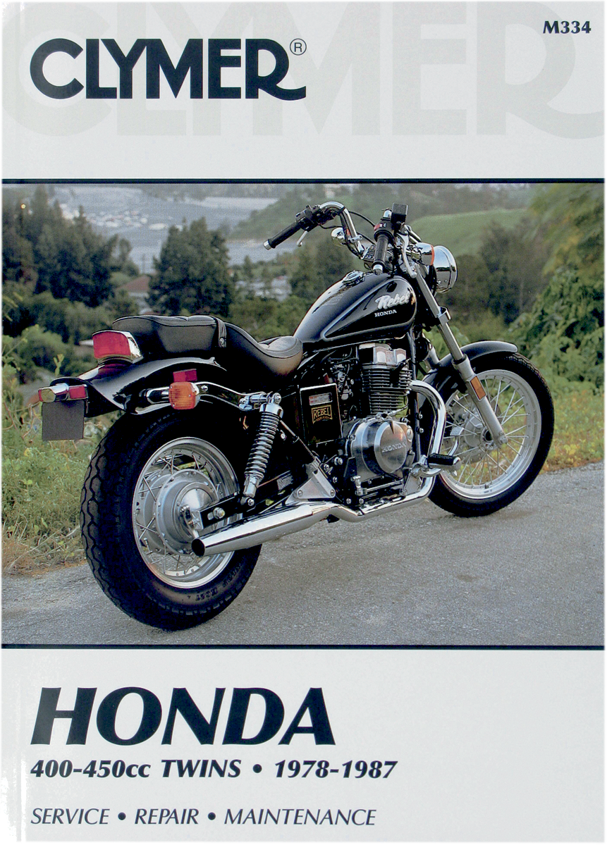 Clymer motorcycle Repair Manual Honda 400-450cc 78-87 Hawk CM Nighthawk Rebel