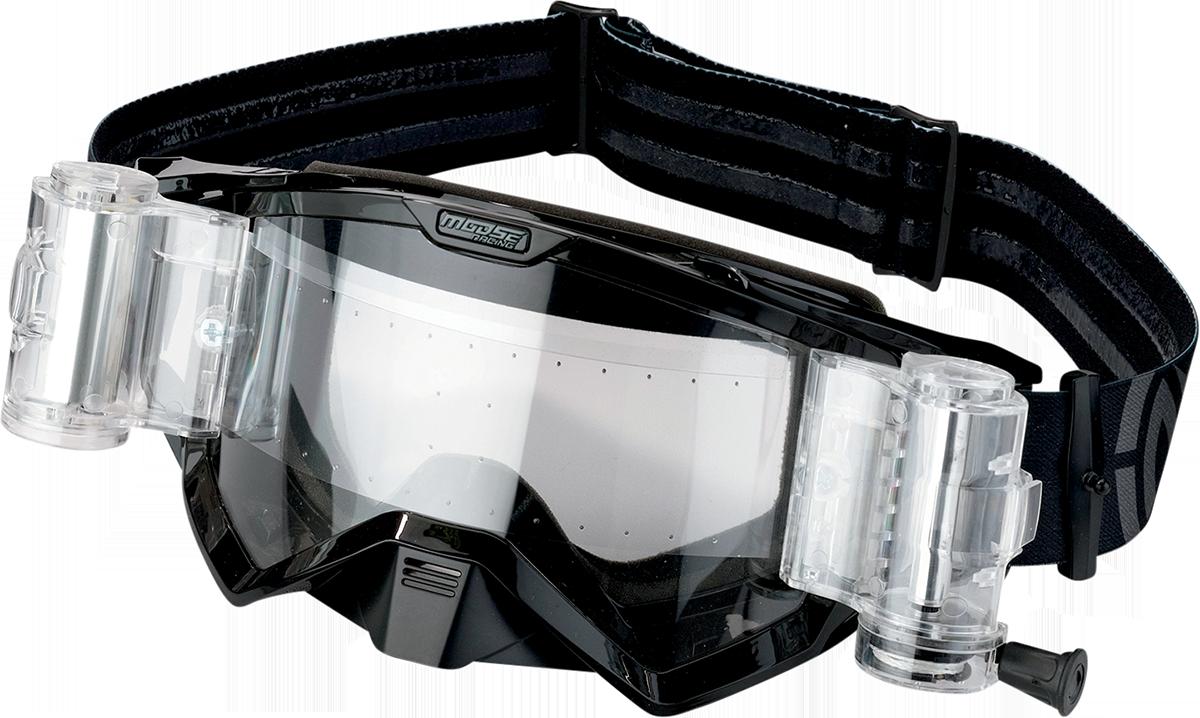 Moose Racing Unisex ATV UTV Offroad Riding Dirt Bike Helmet XCR Roll Off Goggles