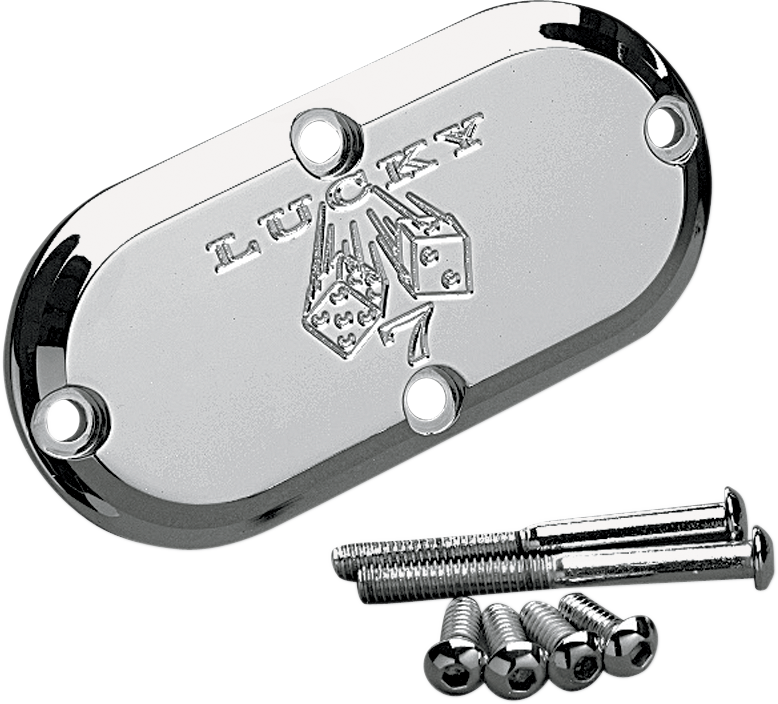 Joker Machine Lucky 7 Chrome Inspection Cover 69-06 Harley Softail Touring
