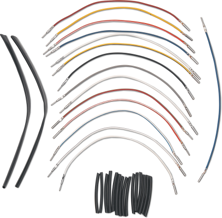 "Novello 4"" Handlebar Wire Harness Extension Kit 11-19 Harley Dyna Sportster"