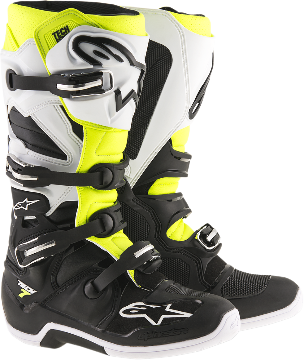 Alpinestars Mens Pair Tech 7 Enduro Off Road Racing Dirt Bike Riding Boots