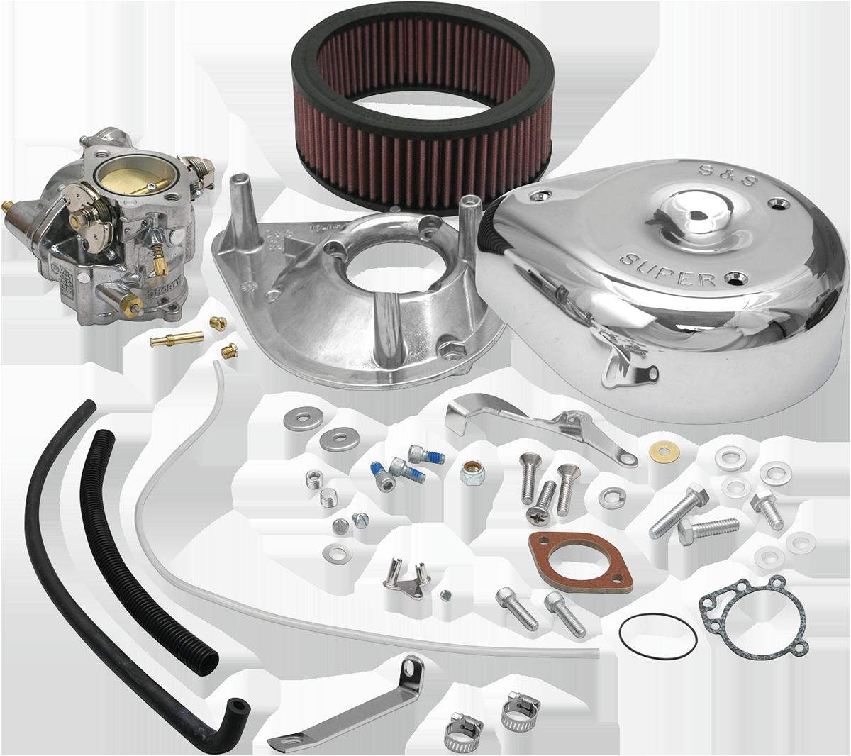 S&S Cycle Chrome Super E Carburetor Kit for 66-84 Harley Touring FL FLHX FX FXE