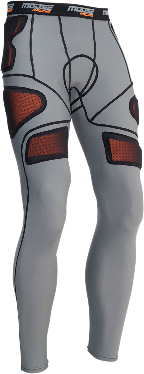 Moose Racing Mens Gray Spandex XC1 Compression Armor Offroad Riding Underwear