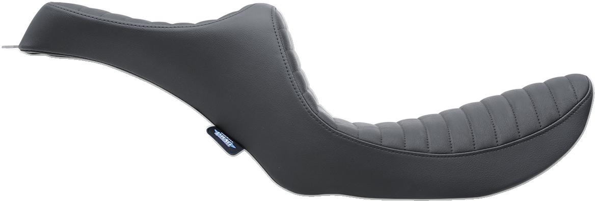 Drag Specialties Black Vinyl Predator Seat for 82-00 Harley Dyna FXR FXRS FXRT