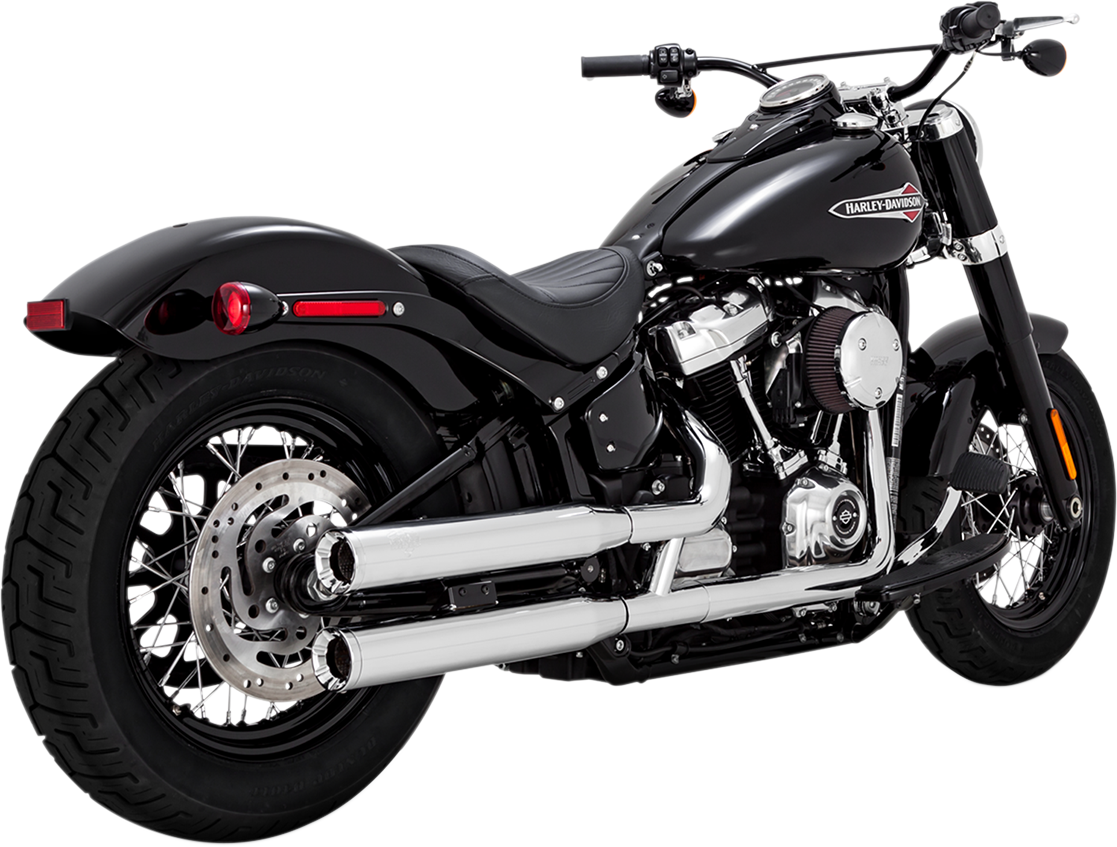 Vance & Hines Chrome Eliminator 300 Exhaust Mufflers for 2018 Harley FXBR FLFB