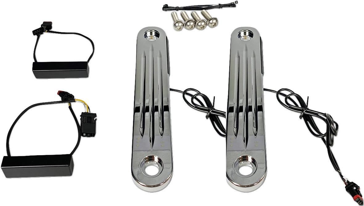 Custom Dynamics Probeam LED Light Strips Turn Signal Kit 06-13 Harley Touring