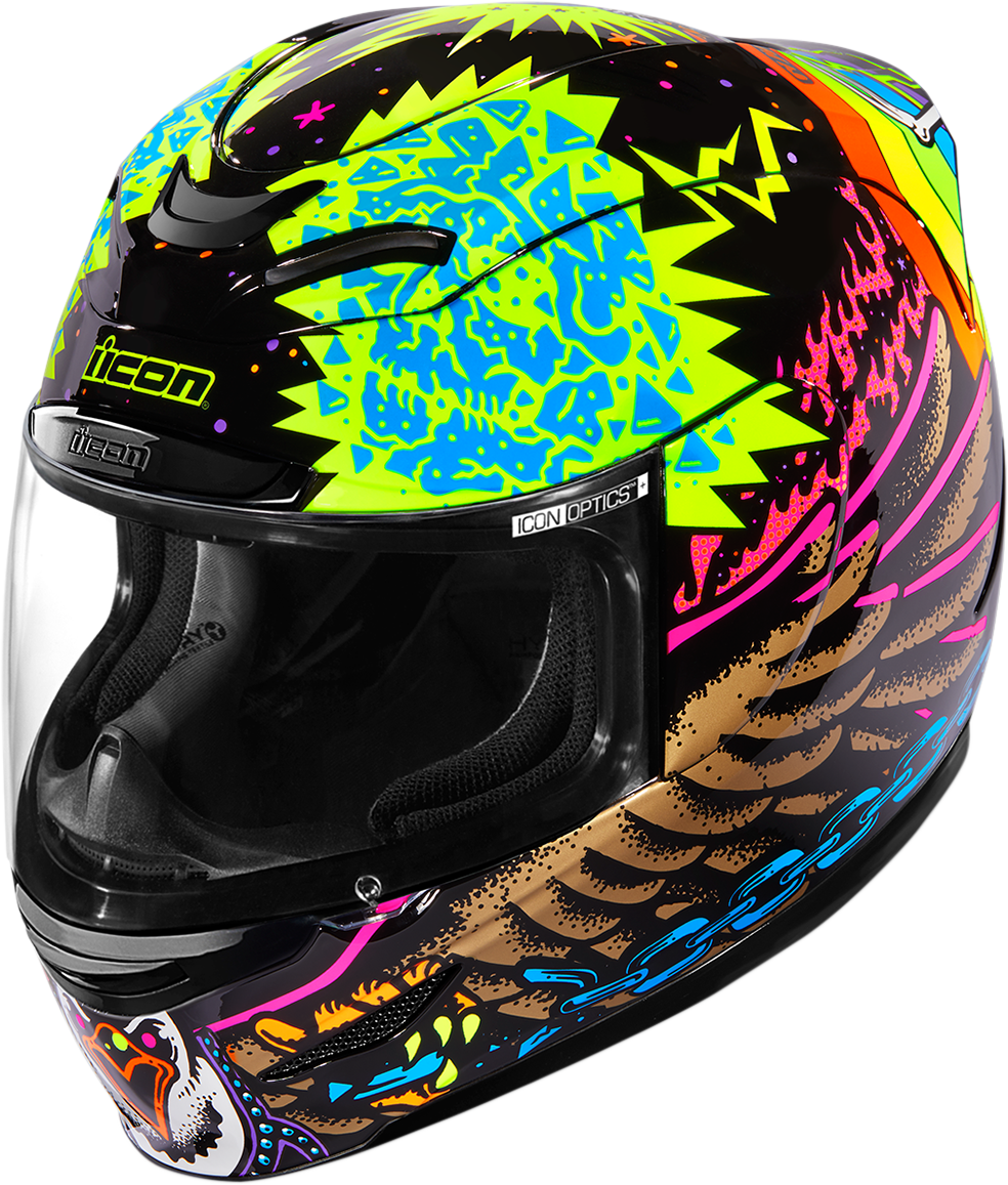 Icon Airmada TL Fullface Glow in the Dark Motorcycle Riding Street Racing Helmet