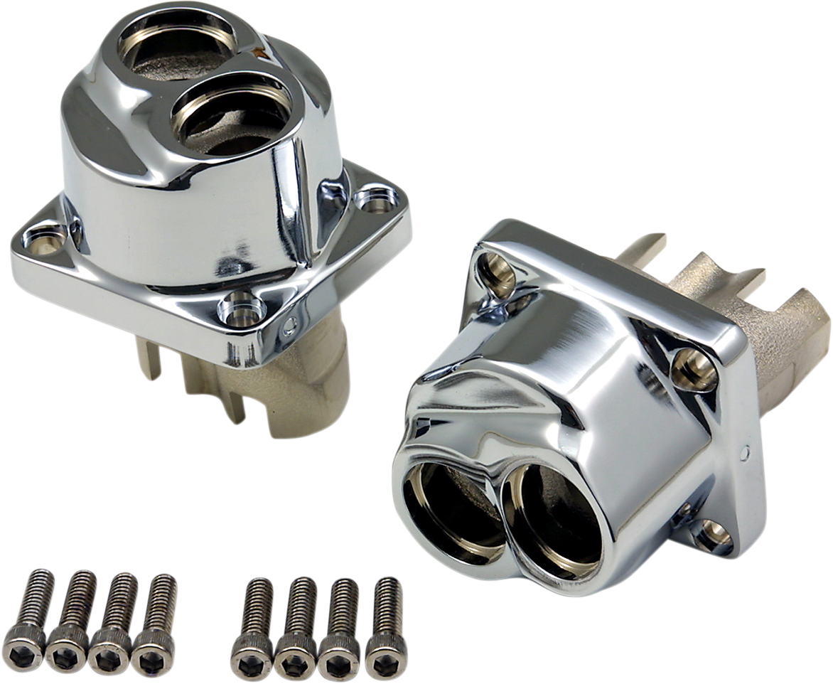 Drag Specialties Chrome Lifter Blocks for 84-00 Harley Dyna Touring Softail FXR