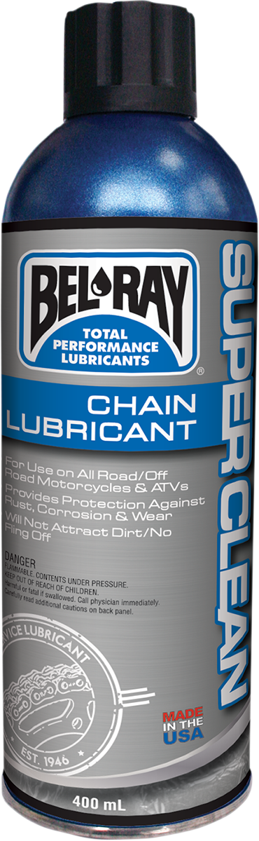 Bel Ray Super Clean 5.9 oz Conventional Aerosol Spray Can Chain Lubricant