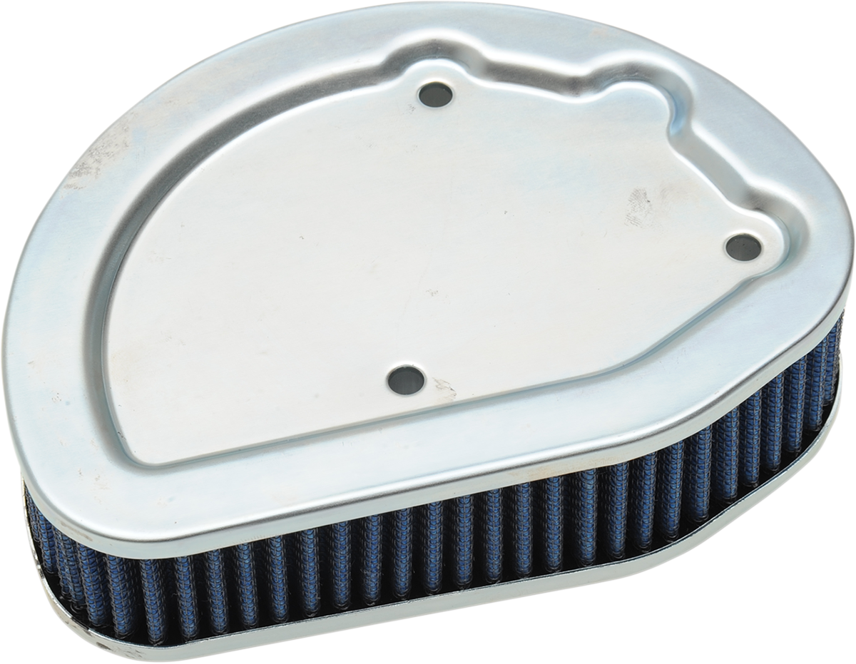 Drag Specialties Blue Gauze Reusable Air Filter for 14-17 Harley Touring Softail