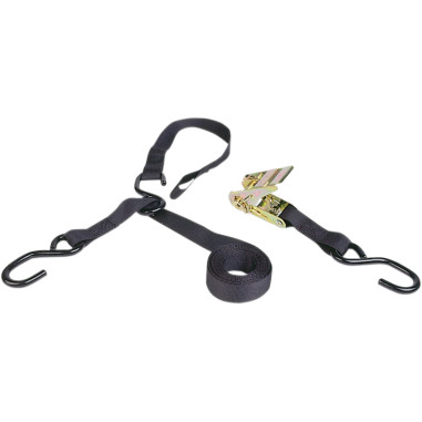 8-FT. TRIPLE-HOOK RATCHET TIE-DOWN WITH SOFT HOOK