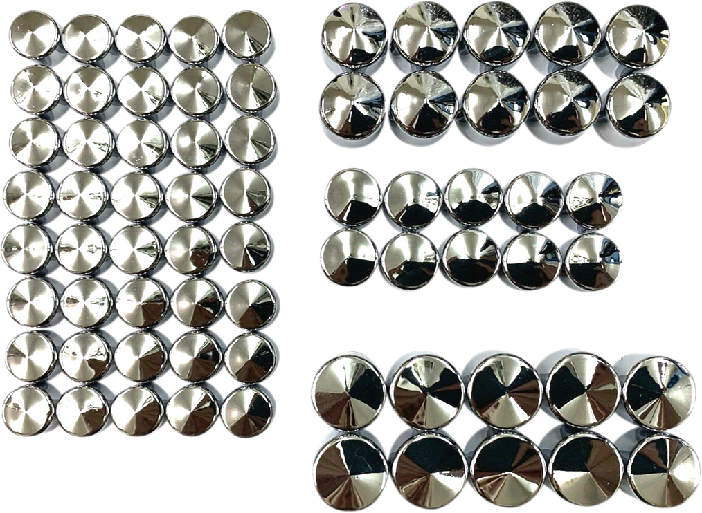 Drag Specialties Chrome Engine Motorcycle Bolt Cover Kit 17-20 Harley Touring