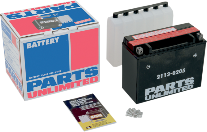 Parts Unlimited 12V Maintenance Free Motorcycle Battery 75-14 Harley Touring FLT