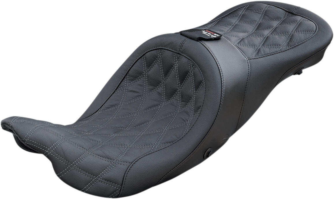 Danny Gray Black Textile Airhawk Longhaul Seat for 08-19 Harley Touring FLHX