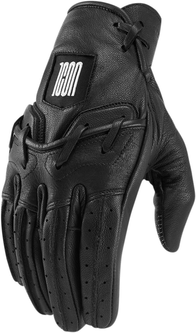 Icon 1000 Mens Leather Baserunner Motorcycle Riding Road Street Racing Gloves