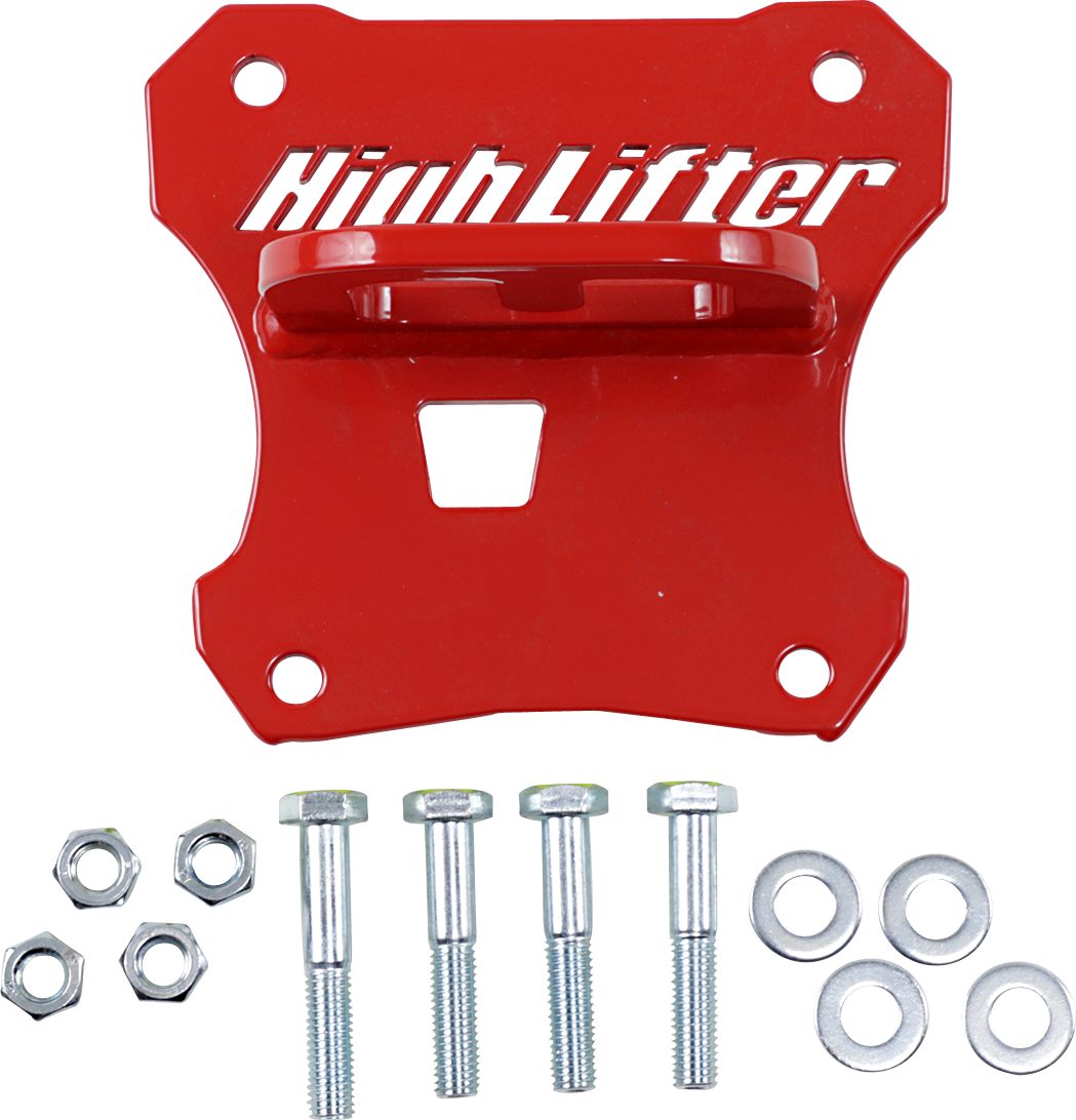 Highlifter Red Rear UTV Side by Side Tow Hook 17-20 Polaris RZR XP 1000 4x4