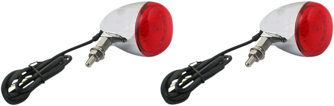 Custom Dynamic Chrome Probeam LED Rear Turn Signal Kit for Harley Davidson