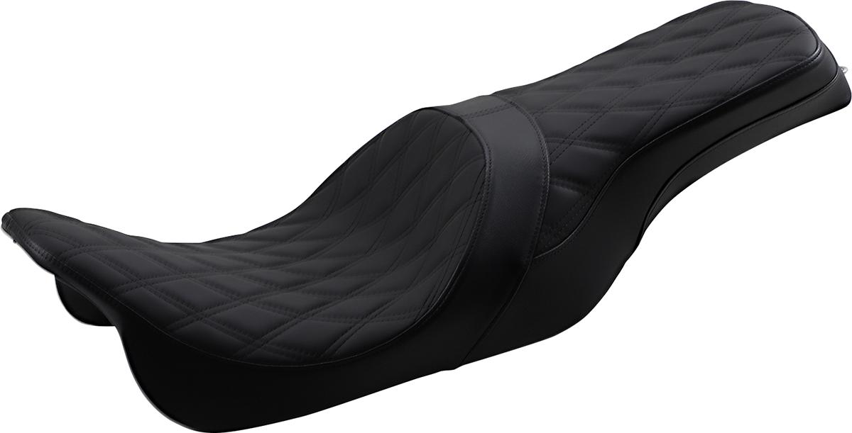 Drag Specialties Predator Black 2 Up Motorcycle Seat 08-20 Harley Touring FLHX