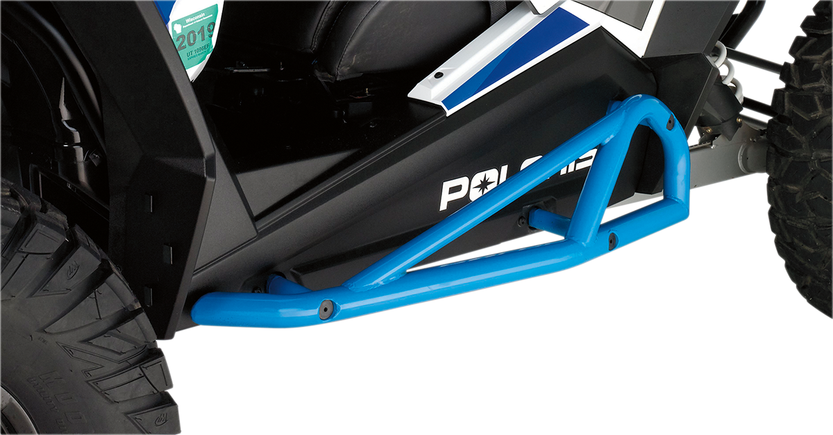 Moose Racing Blue UTV Side By Side Nerf Bars for 15-18 Polaris RZR XP 900 1000