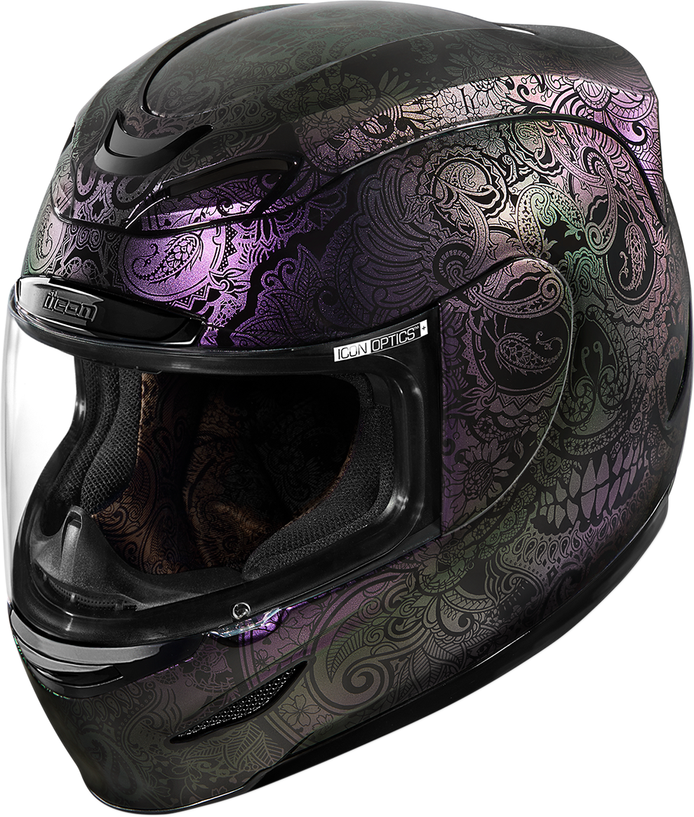 Icon Airmada Purple Chantily Opal Full Face Motorcycle Street Racing Helmet