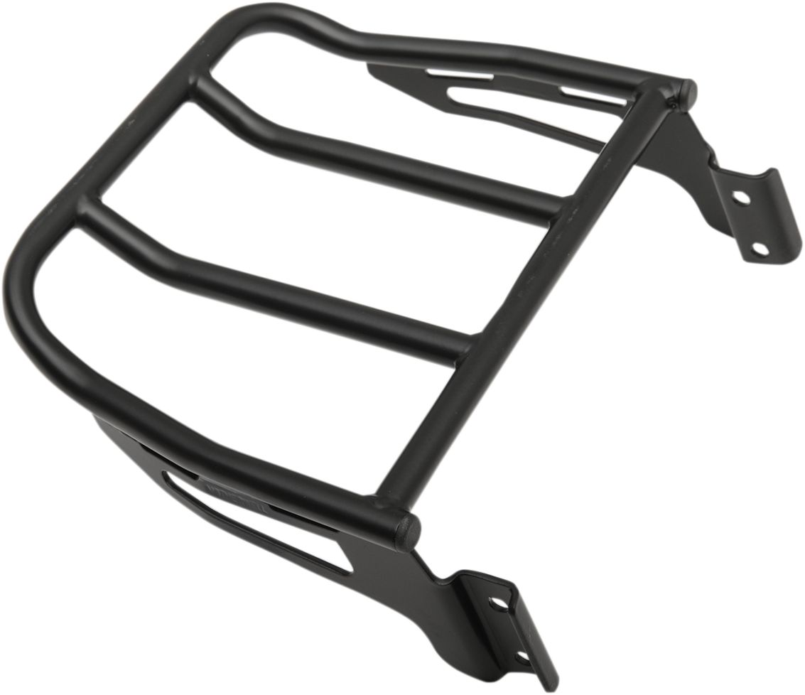 Motherwell Matte Black Rear Luggage Rack for 06-17 Harley Softail FXST FXSTC