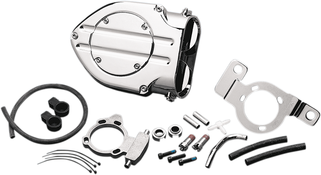 Kuryakyn 9992 Chrome Hypercharger Air Filter Kit for 99-17 Harley Dyna Touring