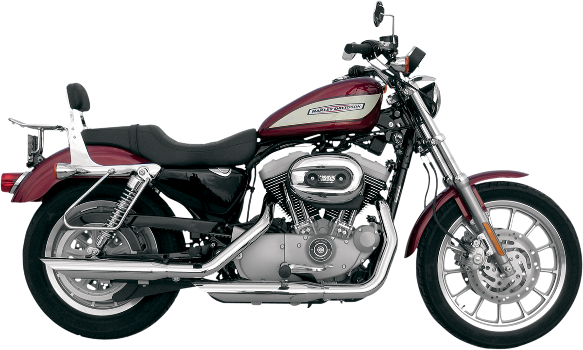 "Khrome Werks HP-Plus 3"" Chrome Slash Down Slip on Mufflers for 04-13 Harley XL"