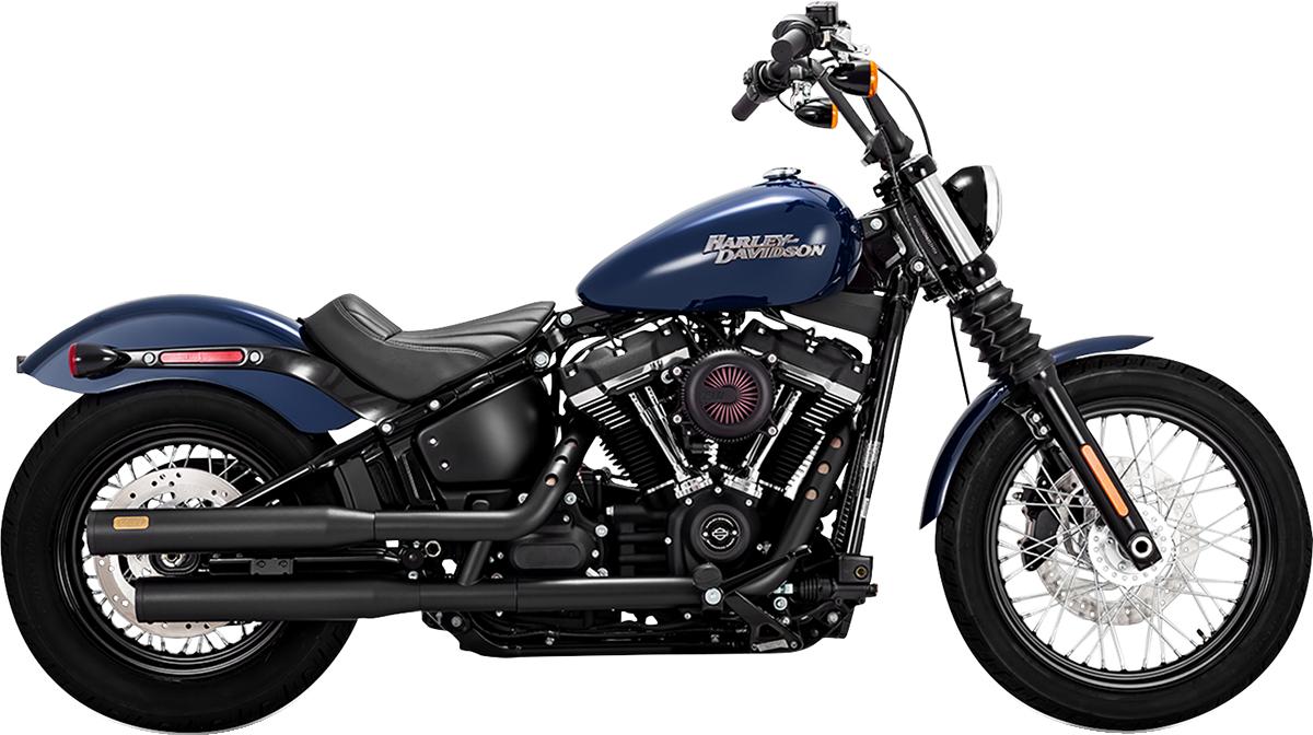 Vance & Hines Black Eliminator 300 Slip on Mufflers for 18-19 Harley Softail