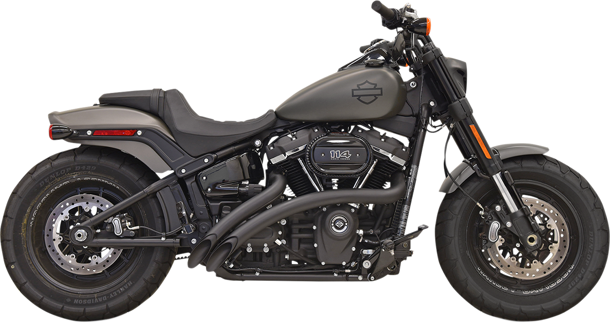 Bassani Xhaust Black 2 into 2 Sweeper Exhaust System for 2018 Harley Softail
