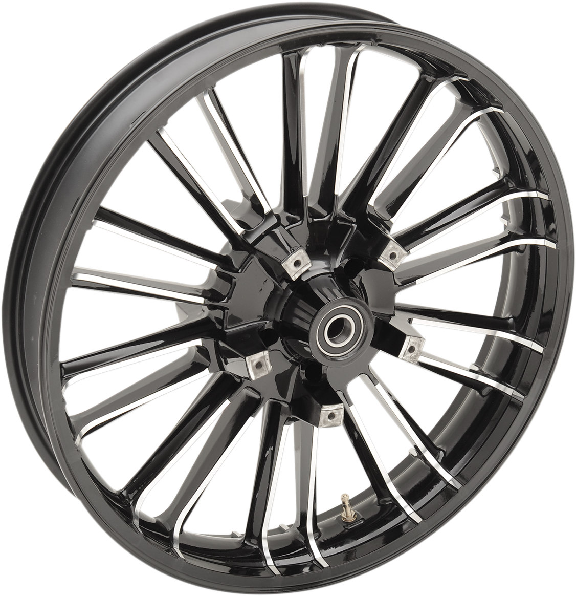 "Coastal Moto Black 21"" Atlantic Dual Disc Front Wheel for 08-18 Harley Touring"