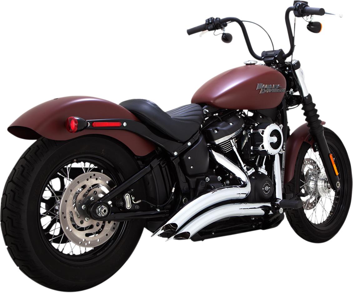Vance & Hines Chrome Big Radius 2 into 2 Exhaust System for 2018 Harley Softail