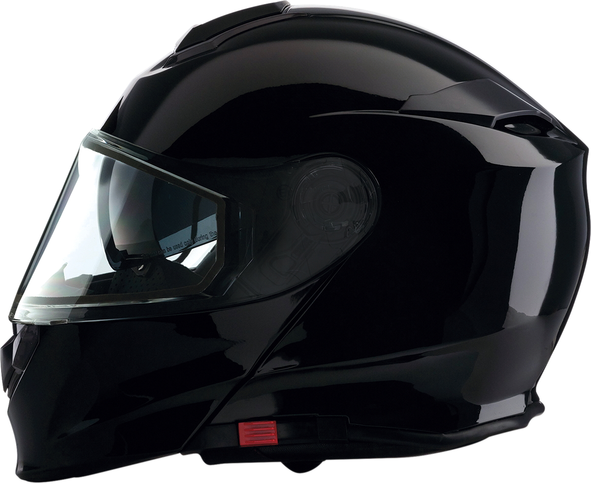 Z1R Black  Unisex Solaris Dual Anti-Fog Lens Full Face Modular Snowmobile Helmet