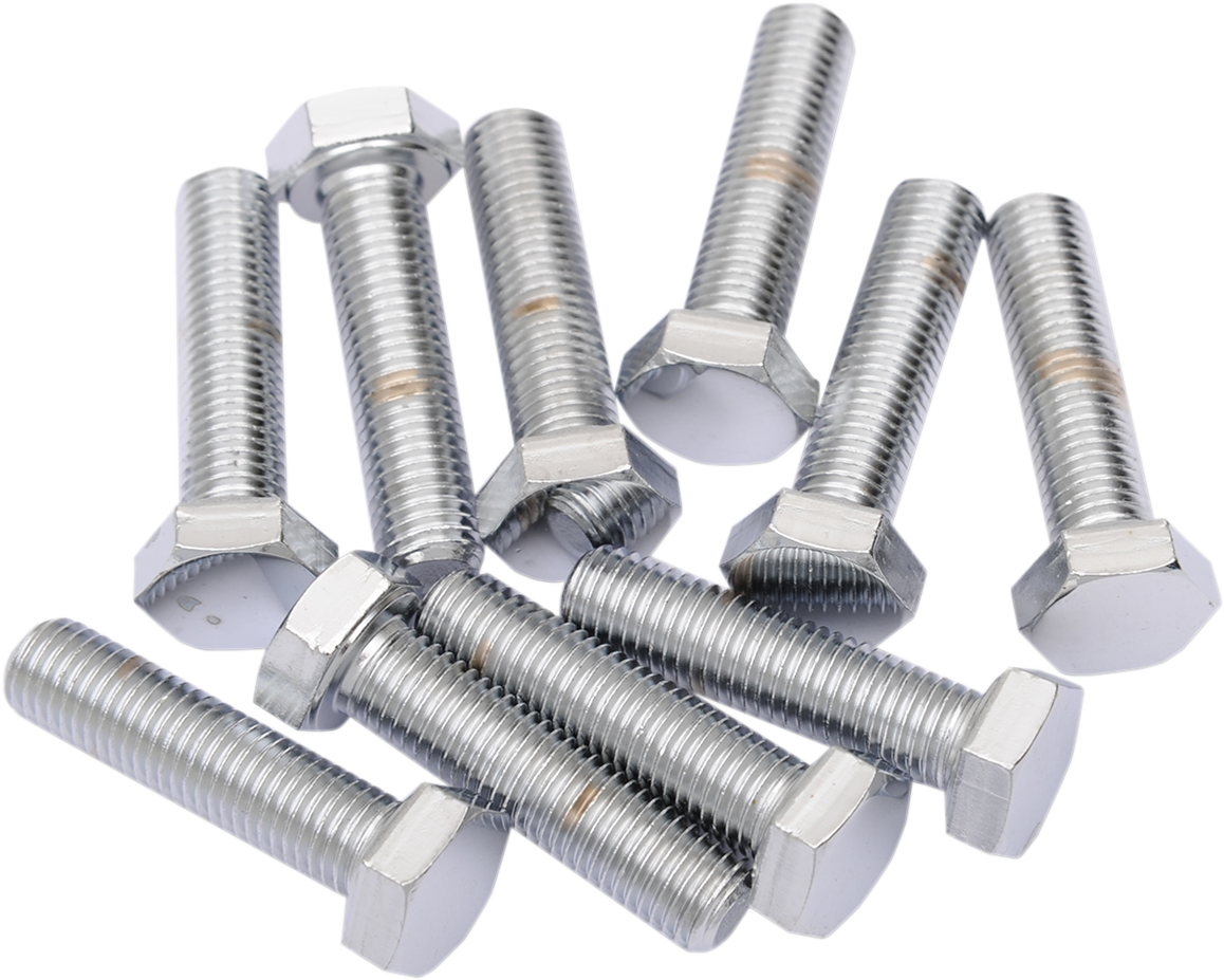 Pack of 10 Chrome Hardware Hex Head Bolts 5//16-24x1-3//4