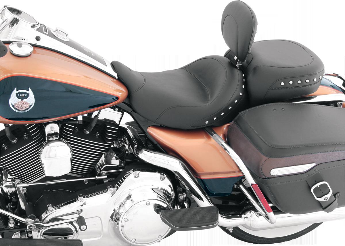 Mustang Studded Solo Seat & Backrest 08-19 Harley Touring FLHX FLHR FLTR FLHTKL