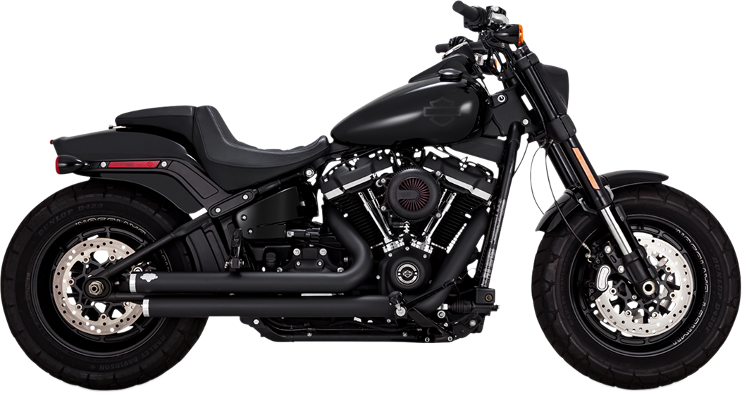 Vance & Hines Black Big Shots Staggered Exhaust for 2018 Harley Softail FLDE
